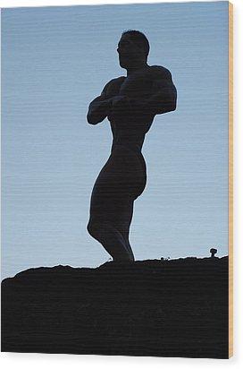 Morning Muscle Wood Print by Jake Hartz