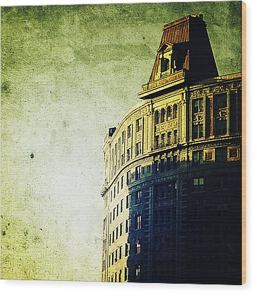 Morningside Heights Green Wood Print by Natasha Marco