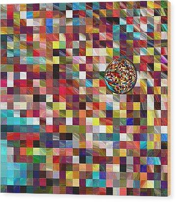 #1 Mosaic Series Wood Print