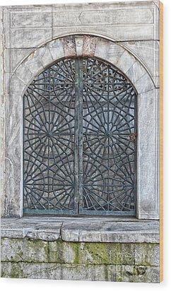 Mosque Window Wood Print by Antony McAulay