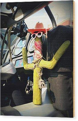 Motorcycle Talisman Wood Print by Patricia Januszkiewicz