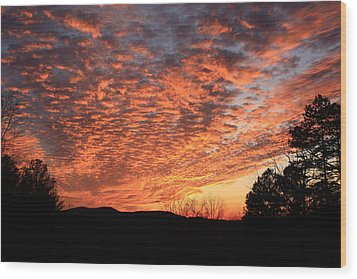 Wood Print featuring the photograph Mount Cheaha Sunset Alabama by Mountains to the Sea Photo