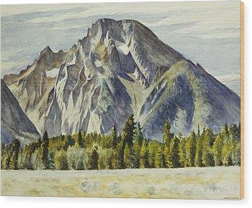 Mount Moran Wood Print by Edward Hopper