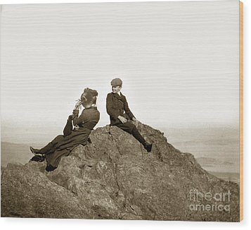 Wood Print featuring the photograph Mount Tamalpais Marin County  Circa 1902 by California Views Mr Pat Hathaway Archives