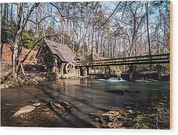 Mountain Brook Mill Wood Print by Andy Crawford