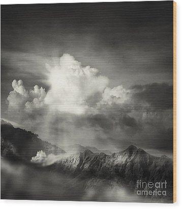 Mountain View Wood Print by Setsiri Silapasuwanchai