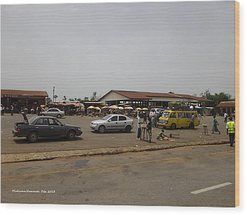 Moyamba Junction-markets Wood Print by Mudiama Kammoh