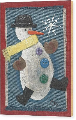 Mr. Snowjangles Wood Print
