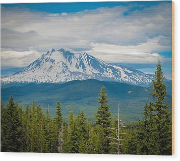 Mt. Adams From Indian Heaven Wilderness Wood Print