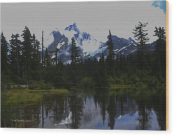 Mt Baker Washington  Wood Print
