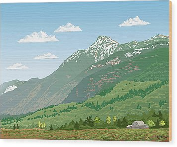 Mt Cheam In Spring Wood Print