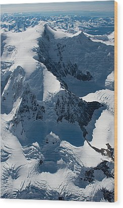 Mt Marcus Baker Wood Print by Roger Clifford