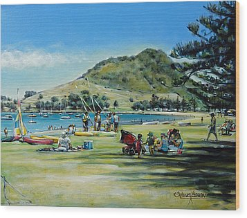 Mt Maunganui Pilot Bay 201210 Wood Print