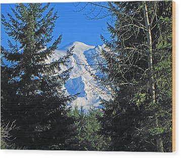 Mt. Rainier I Wood Print by Tikvah's Hope