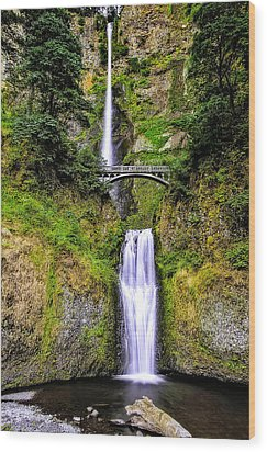 Multnomah Morning Colors Wood Print by Nancy Marie Ricketts