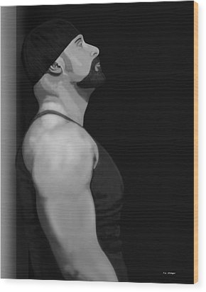 Muscle Shirt Wood Print by Tim Stringer