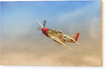 Mustang P51 Wood Print by Johan Combrink