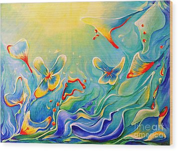 My Dream Wood Print by Teresa Wegrzyn