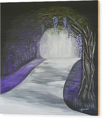 Mysterious Wisteria Wood Print