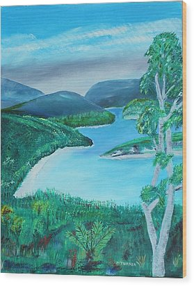 Mystical Island Wood Print by Melvin Turner