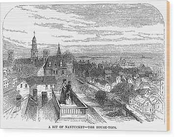 Wood Print featuring the painting Nantucket Scene, 1875 by Granger