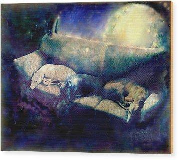 Nap Time Dreams Wood Print by YoMamaBird Rhonda