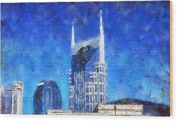Nashville Skyline Wood Print by Dan Sproul