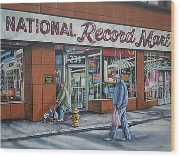 National Record Mart Wood Print by James Guentner