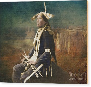 Native Honor Wood Print by Lianne Schneider