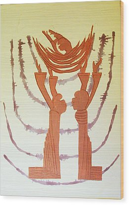 Nativity Of Jesus Wood Print by Gloria Ssali