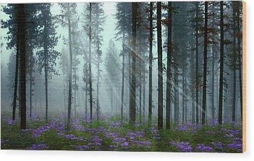 Nature's Beauty Wood Print by Nina Bradica