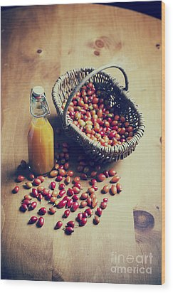 Natures Harvest Wood Print by Tim Gainey