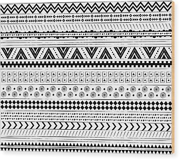 Navajo Surf Repeat Print Wood Print by Susan Claire