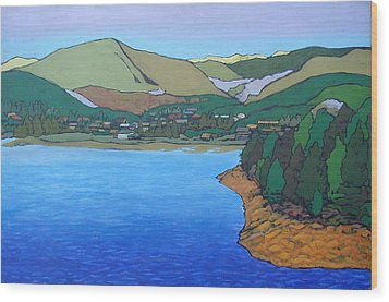 Nederland At First Light Wood Print by Al Hart