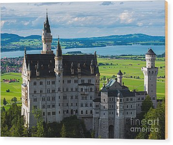 Neuschwanstein Castle - Bavaria - Germany Wood Print by Gary Whitton