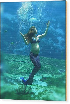 Mermaid Madonna Wood Print
