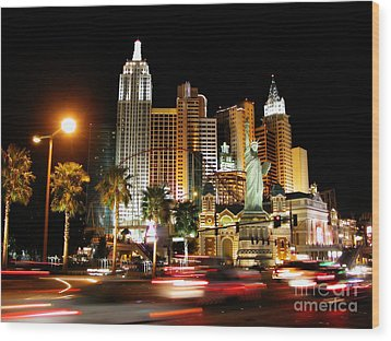 Wood Print featuring the photograph New York Minute by Stuart Turnbull