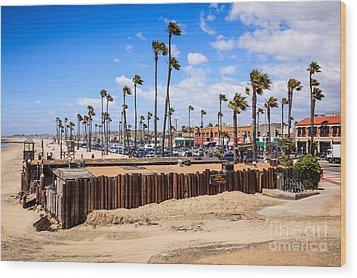 Newport Beach Dory Fishing Fleet Market Wood Print by Paul Velgos