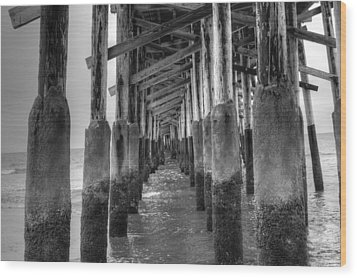 Newport Beach Pier Wood Print
