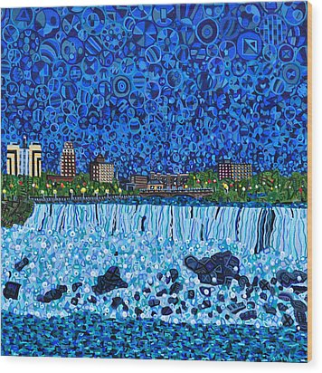 Niagara Falls Wood Print by Micah Mullen