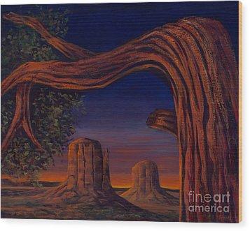 Night Sentinels Wood Print
