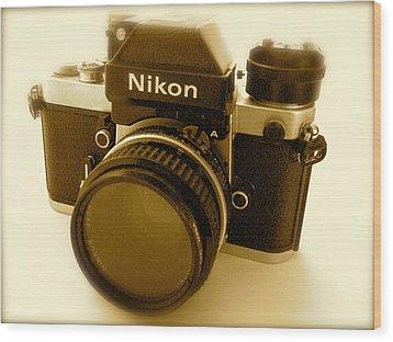 Nikon F2 Classic Camera Wood Print