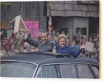 Nixon 1972 Re-election Campaign Wood Print by Everett
