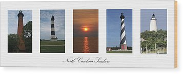 Wood Print featuring the photograph North Carolina Seashore by Tony Cooper