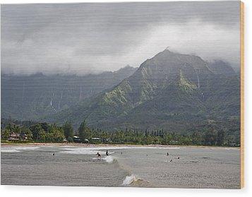 North Shore Kauai Wood Print by Lannie Boesiger