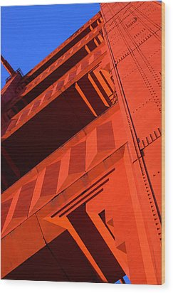 North Tower Golden Gate Bridge Wood Print