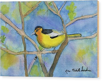 Northern Oriole Wood Print