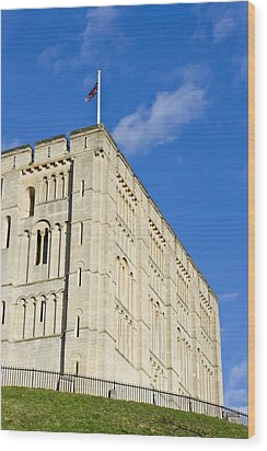 Norwich Castle Wood Print by Tom Gowanlock