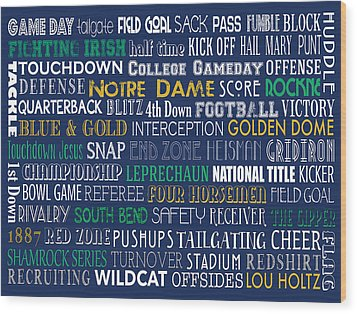 Notre Dame Football Wood Print
