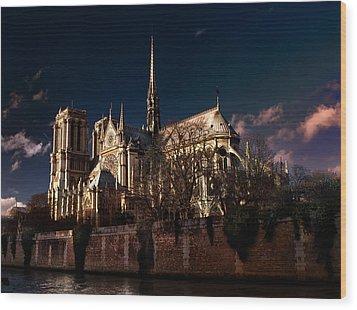 Notre Dame Paris Wood Print